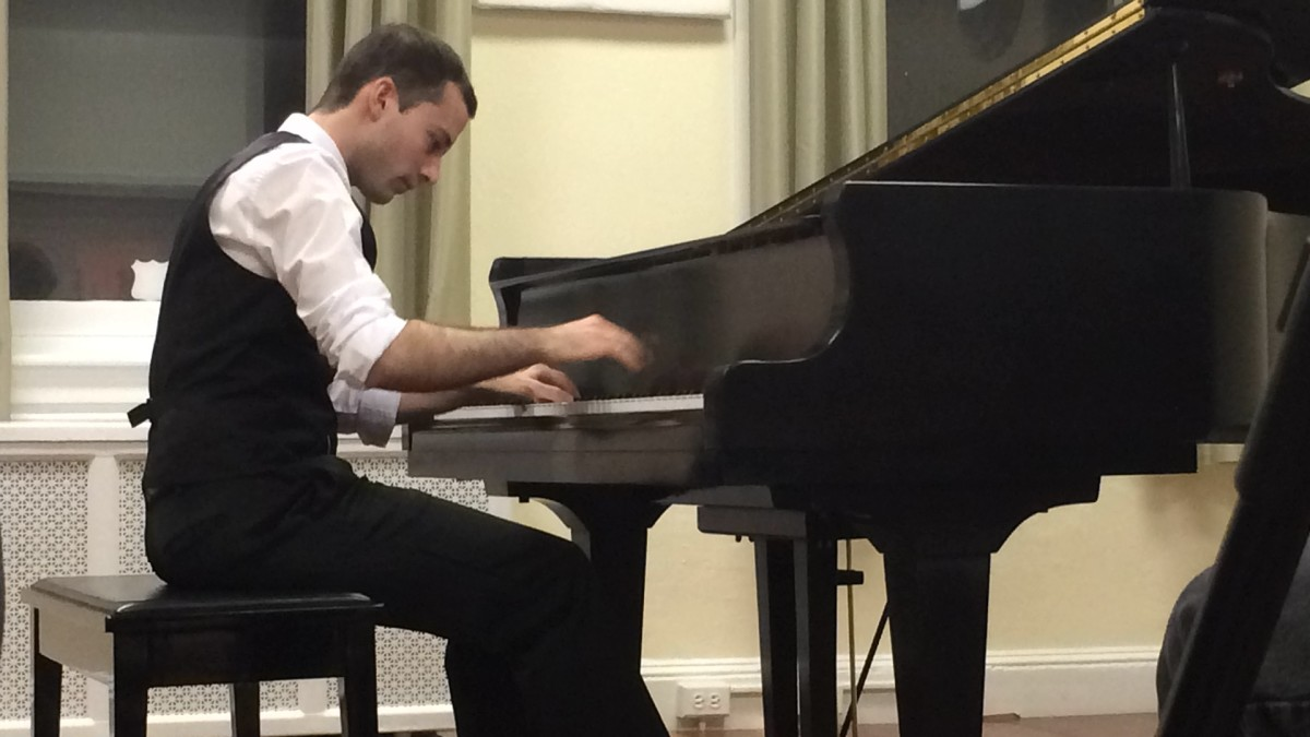 Pianist Agustin Muriago performing at The Society Hill Arts Center