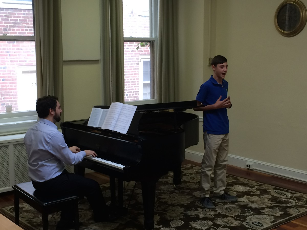 Resonance Vocal Student Aiden W. performing at our 2015 Summer Recitals