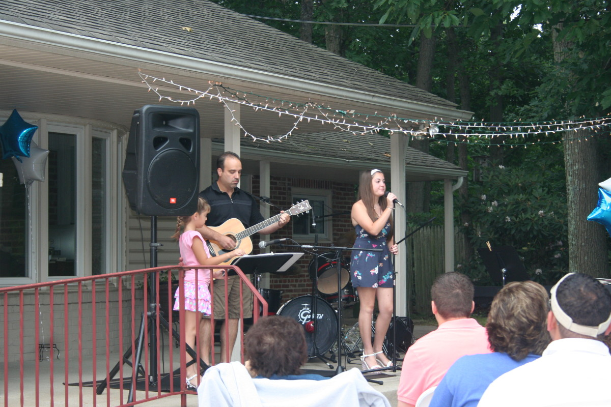 Resonance Students Christiana, Tom and  Maria F. performing at the Resonance BBQ