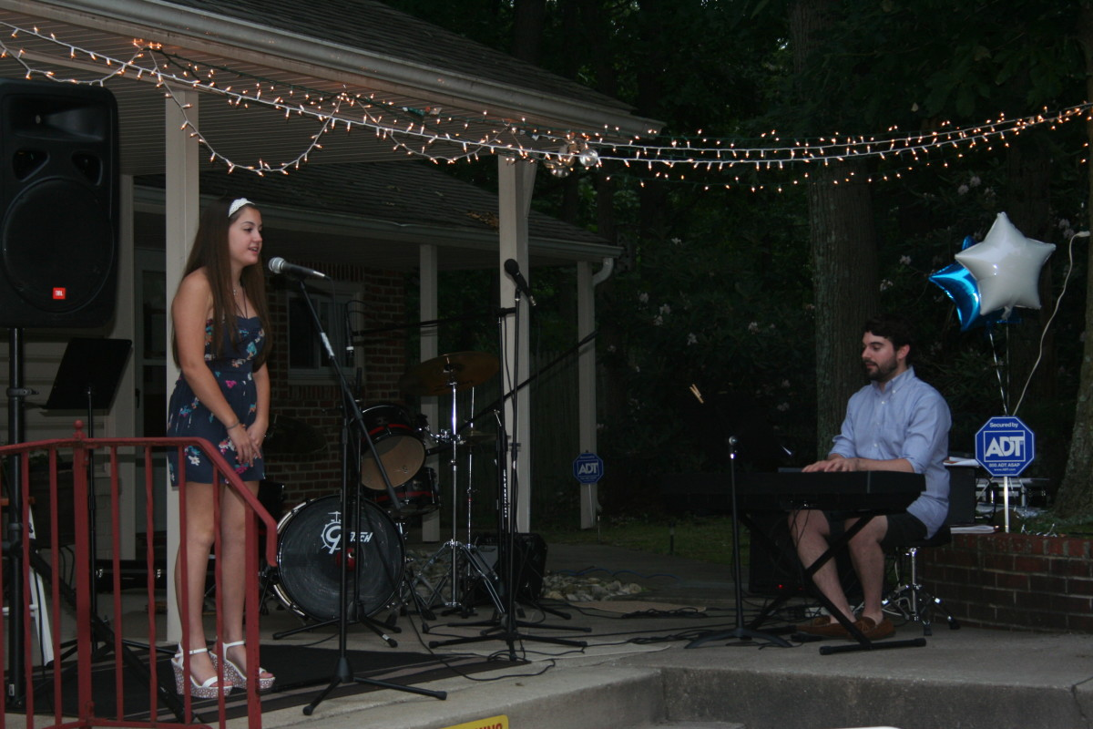 Resonance Student Maria F. performing at the Resonance BBQ
