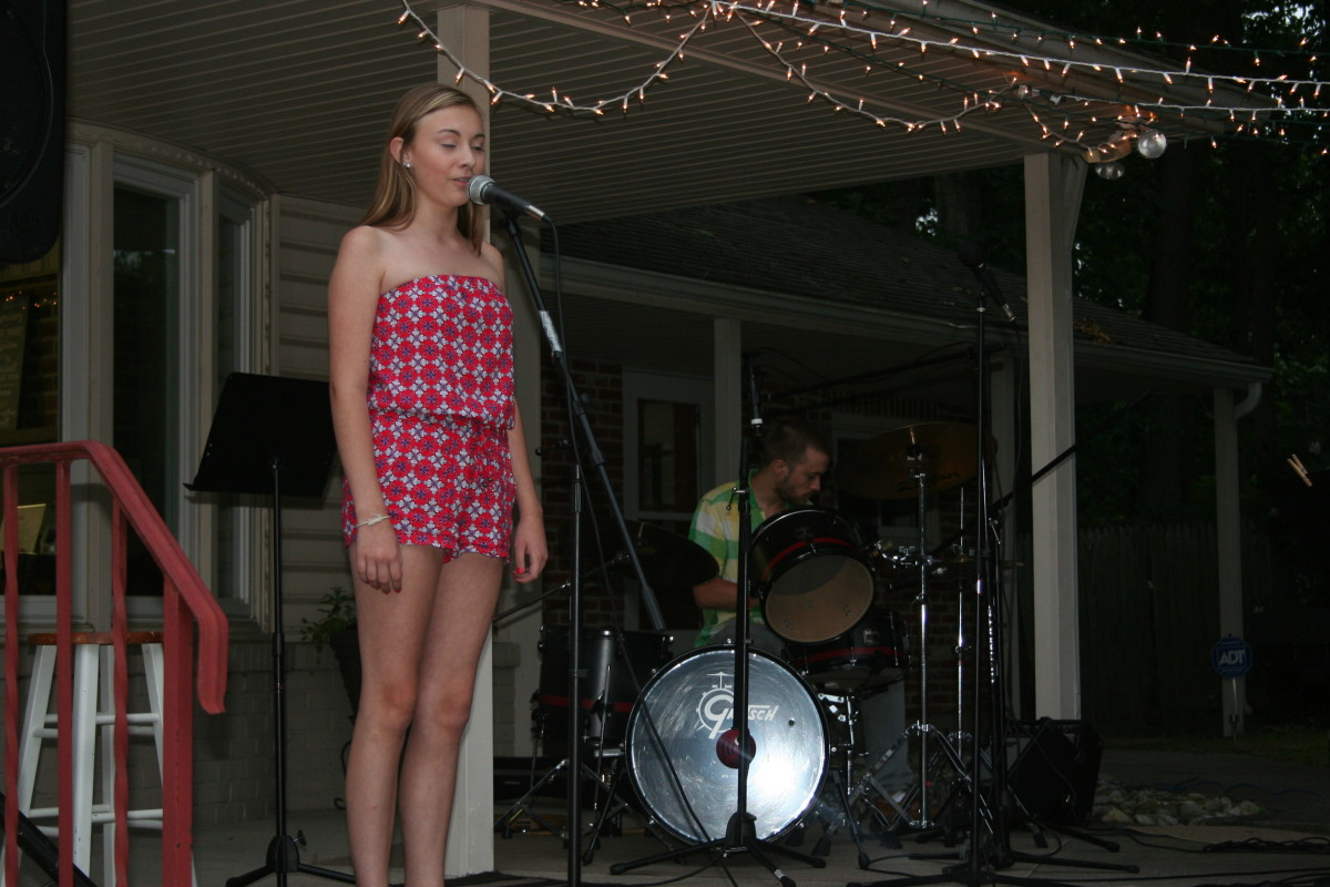 Resonance Student Ashleigh N. performing at the Resonance BBQ