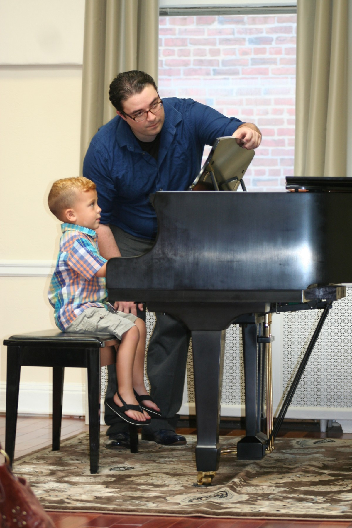 Resonance Student Cesaire F. and Piano Instructor Aaron A.  starting off our Summer Recitals Performances!