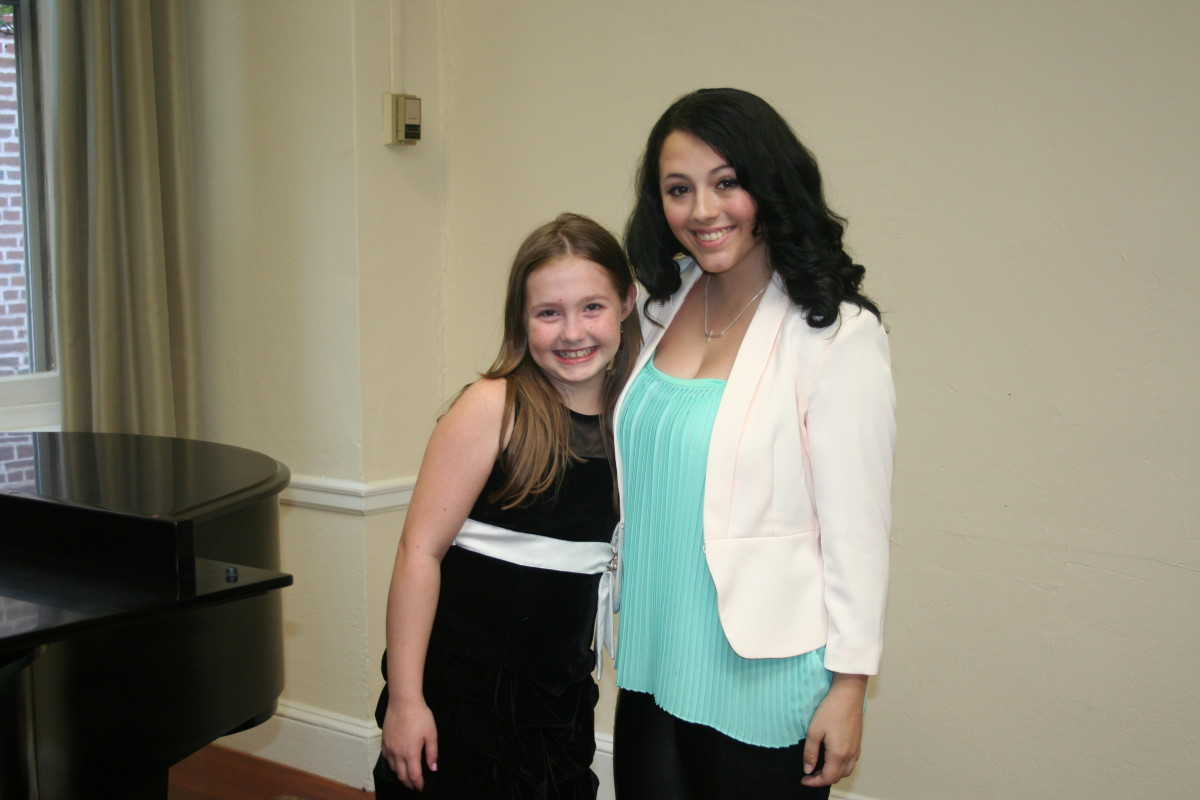 Resonance Vocal Students Kelley E. and Sophie F. after our Summer 2015 Recitals!