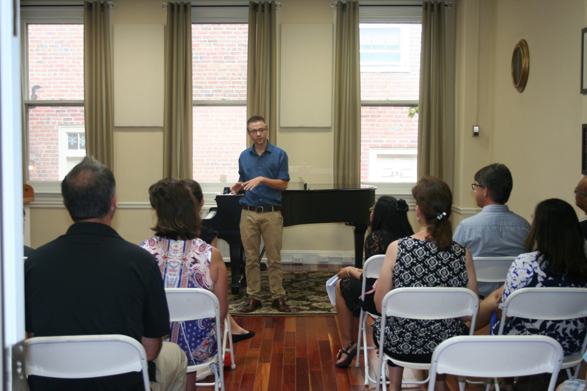 Percussion Instructor Vince G. starting off our 2nd Summer Recital Performances!