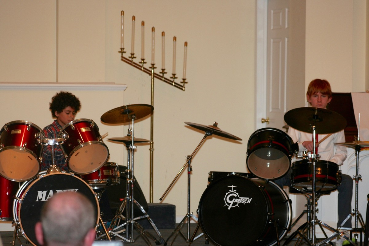 Resonance Drum Students Ian M. and Cody C.