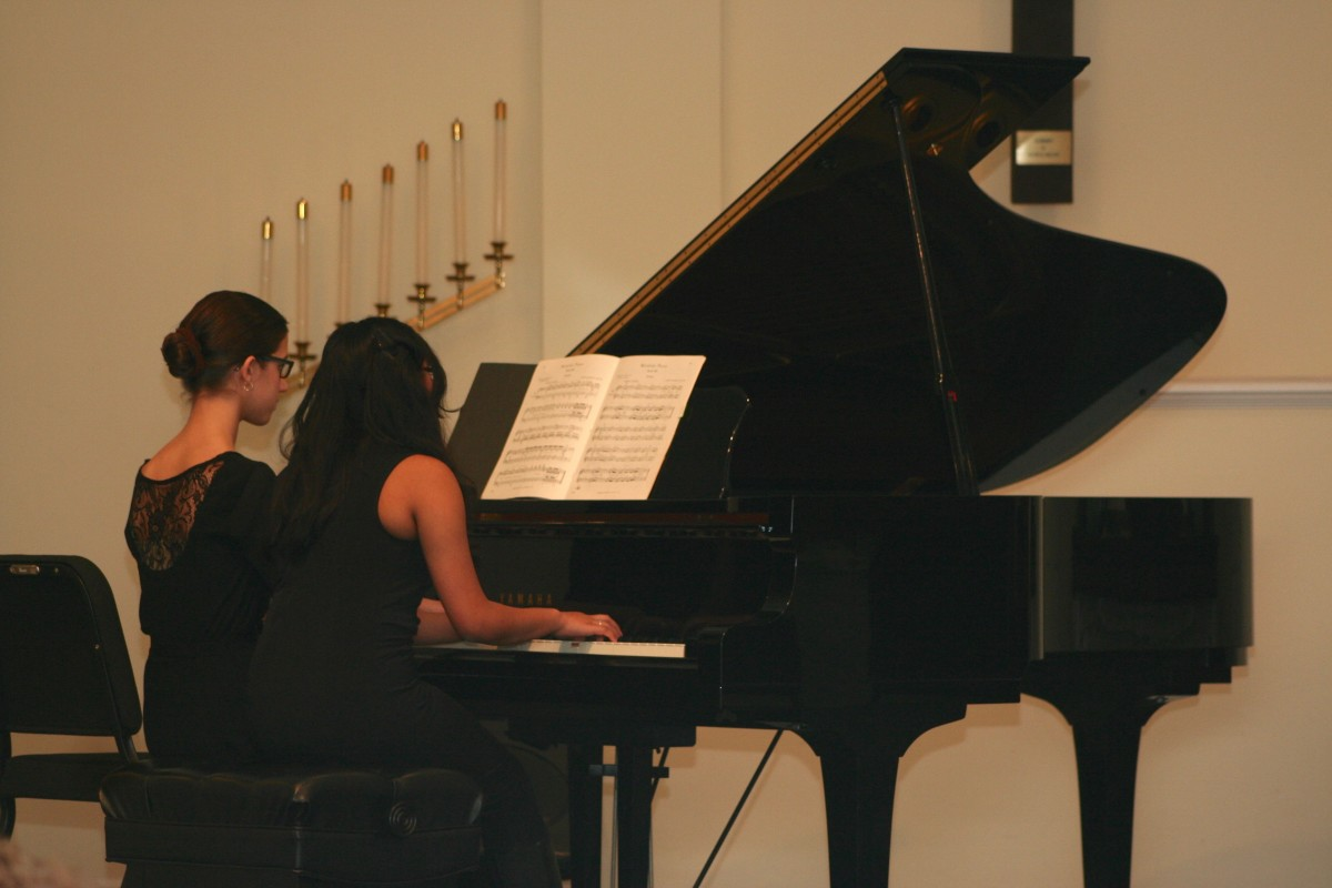 Resonance Piano Students Sophie A. and Sreeta B.