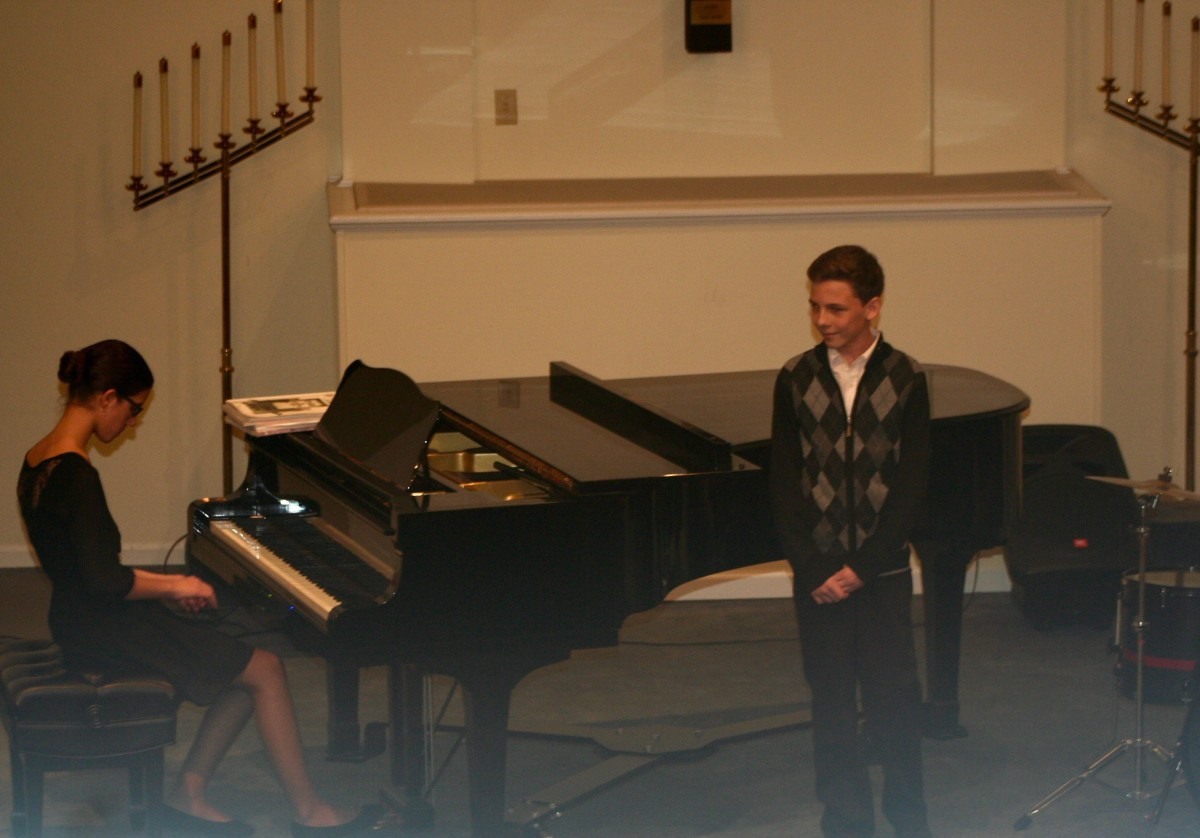 Resonance Piano Student Sophie A. and Vocal Student Colin S.